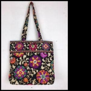 Vera Bradley Autumn Floral Shoulder Tote Bag
